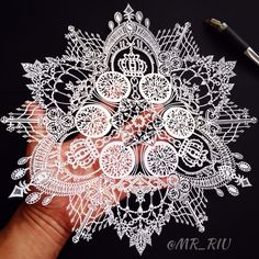 Taking paper snowflakes to new levels Paper Quilling Designs, Quilling Patterns, Kirigami, Cut Out Art, Paper Art, Paper Crafts, Trash Art, Paper Snowflakes, Stencil Painting
