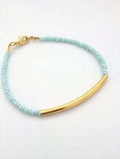 MInt Bar Bracelet by ItsCalledJewelry on Etsy, $10.00