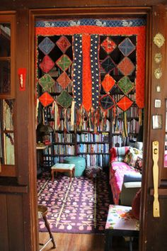 Cosy eclectic library/living space. Beautifully bohemian.