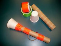Paper Towel Roll Trumpet- Can't wait to to use this trumpets in Children's church
