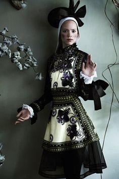 freja beha in givenchy for vogue's master class in the september 2011