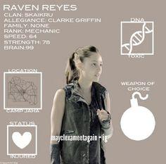 #The100 - Raven Reyes