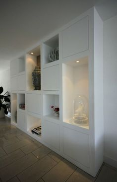 Look at the picture of the MELKAInterieurbouw is the title of a cabinet with a box shape. full built-in wardrobe and the other inspiring images Welke. Home Living Room, Interior Design Living Room, Living Area, Deco Dyi, Casa Milano, Inside A House, My New Room, Built Ins, Home Renovation