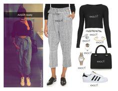 """Leaving LA"" by ammemma ❤ liked on Polyvore featuring Topshop, Victoria Beckham, Rolex, Fendi, Bottega Veneta, Alexander McQueen, adidas and Line + Dot"