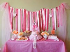 If you are looking for an easy backdrop for a party table or a photo booth at your next party, a DIY ribbon wall is the way to go!I made this ribbon wall for my Tutu Birthday Cake, Ballerina Birthday Parties, Girl Birthday, Birthday Ideas, Birthday Stuff, 31st Birthday, Happy Birthday, Tutu Party, Festa Party