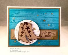 Cardbomb: Wedding Card for Erica! Maria Willis http://cardbomb.blogspot.com/2015/11/wedding-card-for-erica.html Stampin' Up!, Bootiful Occasions, Hardwood Background, Wedding, Cowboy Boots,