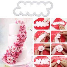 New 3PCS DIY Embossed Cupcake Decoration Plastic Easiest Rose Baking Pastry Cutter Flower Fondant Cake Decorating E2shopping #clothing,#shoes,#jewelry,#women,#men,#hats,#watches,#belts,#fashion,#style