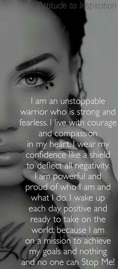 I am unstoppable...