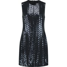 Just Cavalli - Sequined Tulle Mini Dress (3 625 ZAR) ❤ liked on Polyvore featuring dresses, navy, sequin mini dress, print mini dress, tulle dress, pattern dress and tulle mini dress