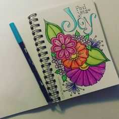 Find your Joy! Bible Art, Book Art, Drawing Sketches, Art Drawings, Flower Doodles, Happy Art, Art Journal Inspiration, Art Journal Pages, Doodle Art