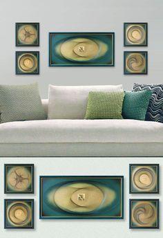 Art Set Modern Wall Decor 3D Abstract String Art by FeniksArtDeco