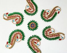 Kundan Rangoli Antique Mango Pattern by KundanArt on Etsy