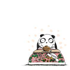 【一日一大熊猫】2016.1.7 七草粥。 お正月の祝膳やお酒で弱った胃を休めるためだとか。 #パンダ #七草粥