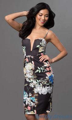 Spaghetti Strap Floral Print Dress - Brought to you by Avarsha.com