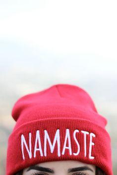 Namaste Beanie - Yoga Beanie by ArimaDesigns.esy.com