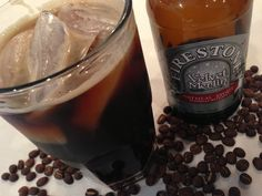 Perfect for a Holiday Weekend! Mix Your Cold Brew Coffee With Oatmeal Stout To Make A Caffeinated Cocktail: Coffee Menu, Coffee Drinks, Vodka Red, Firestone Walker, I Love Coffee, Cold Brew, Caffeine, Red Bull, Beer Bottle
