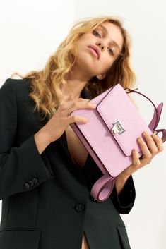 Shirley cross-over in pale violet You Bag, Hermes Kelly, Crossover, Suede Leather, The Balm, Campaign, Sporty, Bags, Audio Crossover