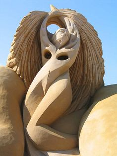 """""""Rhapsody"""" sand sculpture in Portugal by Fergus Mulvany"""