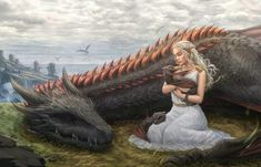 Image in Daenerys Targaryen 🐉 collection by Dark Fantasy Art, Fantasy Artwork, Fantasy World, Arte Game Of Thrones, Game Of Thrones Dragons, Got Dragons, Mother Of Dragons, Fire Dragon, Dragon Art