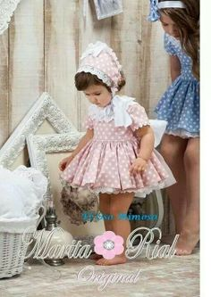 ideas for sewing clothes kids toddlers dress patterns Cute Little Girl Dresses, Baby Girl Dresses, Baby Dress, Baby Girl Fashion, Kids Fashion, Spanish Baby Clothes, Toddler Dress Patterns, Toddler Girl Style, Doll Clothes