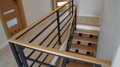 Balustrada modern Rzeszów - Drew Tim schody i balustrady Rzeszów Staircase Design Modern, Staircase Railing Design, Interior Staircase, Home Stairs Design, Staircase Remodel, Modern Stairs, Cabin Interior Design, Attic Design, Lobby Design
