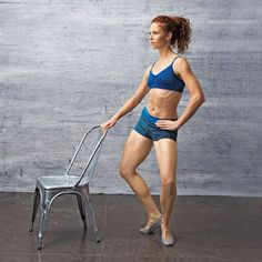 The Slimming Swirl exercise works all your butt muscles and your legs.