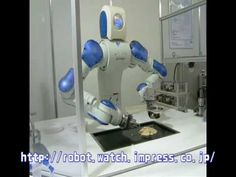 Okonomiyaki is a Japanese dish of savory pancakes, and this guy -- a Motoman SDA-10 robot has been trained to make them. Good thing it has spatulas for arms.