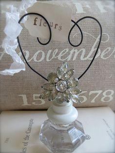 ON RESERVE For Susan S. - Vintage Door Knob Inspiration Holder - Photo Holder - Place Card Holder