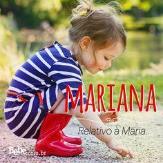 Quem aí também tem uma #Mariana em casa ou na barriga? No nosso site, você confere mais curiosidades e a numerologia de Mariana (e de muitos outros nomes lindos!). #NomesSignificados #NomesdeBebês