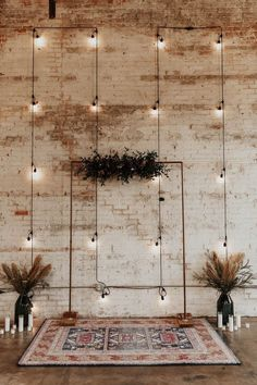 How To Have A Modern Rockstar Chic Wedding Modern Decoration modern wedding decor Indoor Wedding Ceremonies, Wedding Ceremony Decorations, Decor Wedding, Industrial Wedding Decor, Wedding Ideas, Wedding Lighting, Modern Wedding Decorations, Wedding Centerpieces, Indoor Ceremony