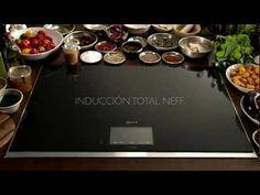 Placa Inducción Total de Neff.   La cocina sin límites ha llegado. El tamaño del recipiente, la forma o la posición ya no determina la creatividad de cada plato.  La nueva placa de Inducción Total de Neff ofrece un espacio de casi 3.000 cm2 para cocinar.