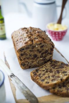 Traditional Irish Brack..A loaf filled with whiskey and tea soaked fruit. | www.DonalSkehan.com