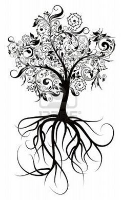 This would make an awesome family tree tattoo... Would somehow get 2 birds…