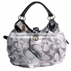 Coach Cream Poppy Op Art Tote Bag