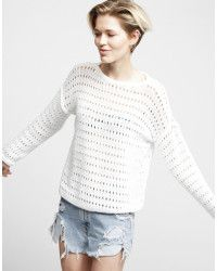 Wool And The Gang Us Cosmic Sweater white - Lyst