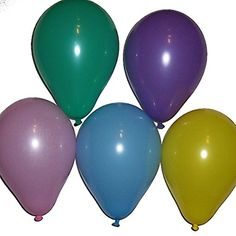 "Custom, Fun & Cool {Small Size 5"" Inch} 25 Pack of Helium..."