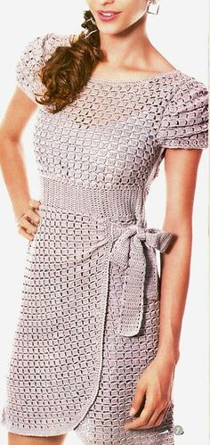 Ideas For Crochet Vestidos Fashion Ganchillo Mode Crochet, Crochet Baby, Knit Crochet, Irish Crochet, Crochet Skirts, Crochet Clothes, The Dress, Dress Skirt, Wrap Dress