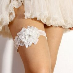 Lace Garter  Bridal garter Wedding garter Floral lace by woomipyo, $40.00