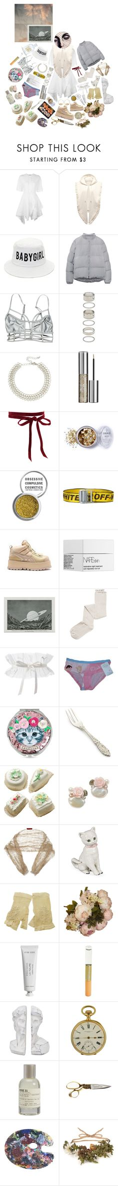 """""""Angel Hoe"""" by anna-pensky ❤ liked on Polyvore featuring J.W. Anderson, Forever 21, Kenneth Jay Lane, Urban Decay, Aurélie Bidermann, Obsessive Compulsive Cosmetics, Off-White, NARS Cosmetics, Intimately Free People and Disney"""