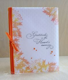 Stamped vellum over embossed card front