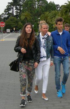 Giorgia Marin, Aurora Martella and friend taking a walk in San Francisco, California.