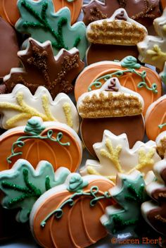 Fall Cookies....Such a festive way to celebrate Fall.Would also make any kid smile to see one in their lunch box.