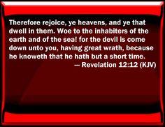 Image result for revelation 12:12 kjv