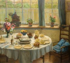 Breakfast Is ReadyStanley Thorogood (British, 1873–1953) Oil on canvas, 51 x 56cm, c. 1919.The Potteries Museum & Art Gallery.