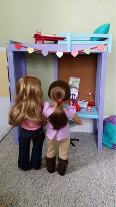 American Girl Doll Crafts and Fun!: Decorating the Loft Bed