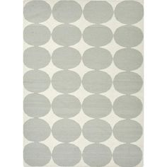 Flat-Weave Geometric Blue Wool Area Rug (8' x 10') - $335
