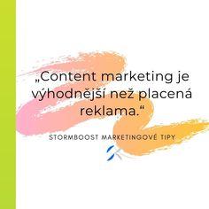 Content marketing je z dlouhodobějšího hlediska výhodnější oproti placené reklamě. Stabilně Vám totiž pomáhá se zobrazovat na předních místech vyhledávačů.  #contentmarketing #content #eshop #marketing #online #onlinemarketing #plzen #marketingovaagentura #blog Content Marketing, Online Marketing, Blog, Movie Posters, Film Poster, Blogging, Inbound Marketing, Billboard, Film Posters