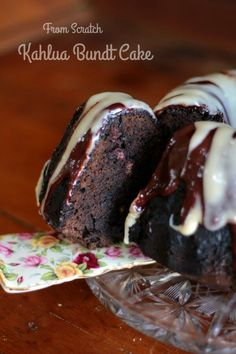 Kahlua Cake from scratch. Most and dark chocolate with lots of Kahlua flavor. Easy , too. We love this! From http://RestlessChipotle.com