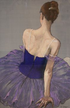Ballerina in Purple. Katya Gridneva