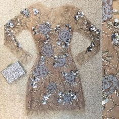 Sequined blinged out dress. Love the details. Hoco Dresses, Pretty Dresses, Homecoming Dresses, Beautiful Dresses, Dress Outfits, Evening Dresses, Formal Dresses, Outfit Vestidos, Elie Saab